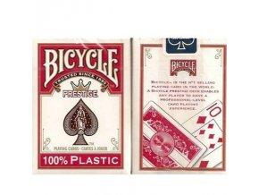 Poker plastové karty BICYCLE 100%plastic červené