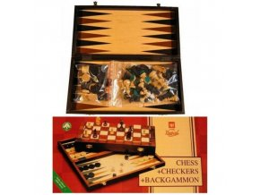 Šachy turnajové vel.5 + Dáma + Backgammon