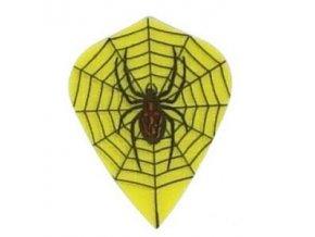 Letky plátěné Longlife kite žluté Pavouk
