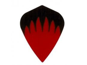 Letky plátěné Longlife kite černé/červené