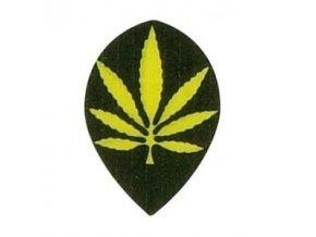 Letky plátěné Longlife pear černé/žlutý List
