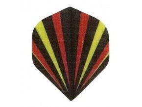 Letky plátěné Longlife standard Paprsky/černé,žluté,oranžové