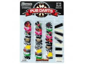Letky a násadky - Sada Pub darts Show Card