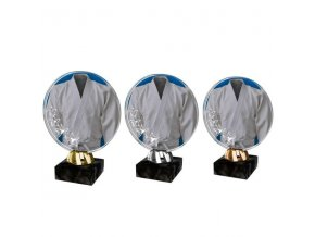 Akrylátová trofej CACL2003M37 Karate sada zlatá,stříbrná,bronzová 3ks