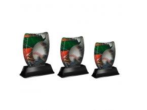 Akrylátová trofej ACE0001M24 Baseball sada 3ks