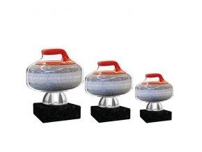 Akrylátová trofej CACT1201M2 curling
