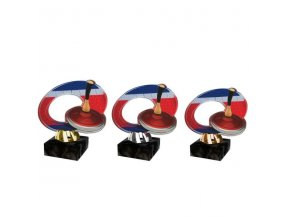 Akrylátová trofej CACL2102M28 Curling