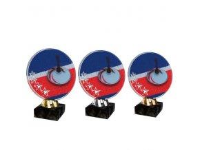 Akrylátová trofej CACL2103M21 Curling