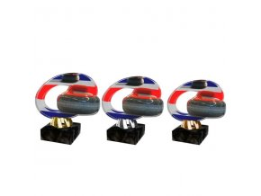 Akrylátová trofej CACL2102M27 Curling