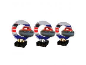 Akrylátová trofej CACL2101M25 Curling