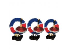 Akrylátová trofej CACL2101M26 Curling