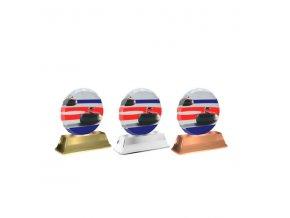 Akrylátová trofej ACE2003M19 Curling