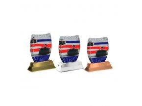 Akrylátová trofej ACE2002M21 Curling