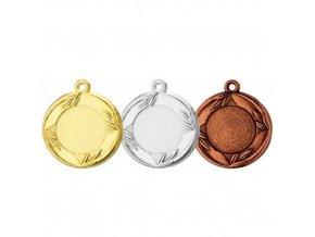 Medaile C9036 zlatá, stříbrná, bronzová