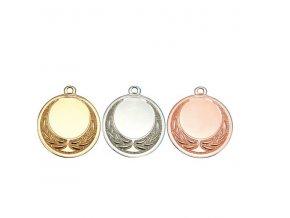 Medaile C9300 zlatá, stříbrná, bronzová