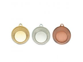 Medaile C9301 zlatá,stříbrná,bronzová