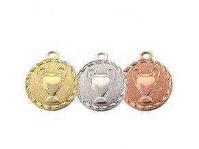 Medaile C9080 zlatá,stříbrná,bronzová 3ks