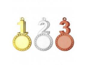 Medaile C9112 zlatá,stříbrná,bronzová