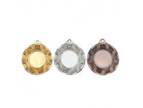 Medaile C9321 zlatá,stříbrná,bronzová