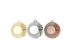 Medaile C9322 zlatá,stříbrná,bronzová