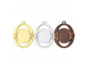 Medaile C9027 zlatá,stříbrná,bronzová