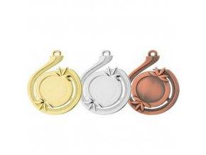Medaile C9025 zlatá,stříbrná,bronzová