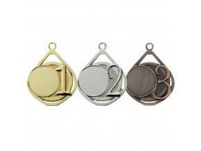 Medaile C9121 zlatá,stříbrná,bronzová