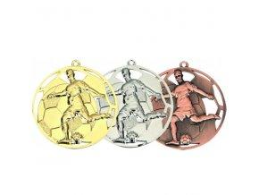 Medaile C9085 Fotbal zlatá,stříbrná,bronzová 3ks