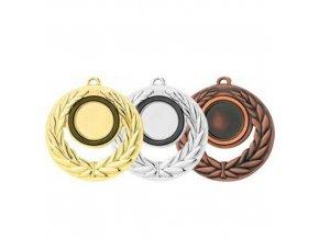 Medaile C9046 zlatá,stříbrná,bronzová