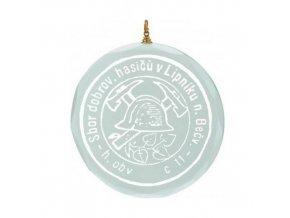 Medaile C9048 Skleněná