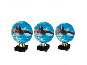 Akrylátová trofej CACL2103M31 Plavání
