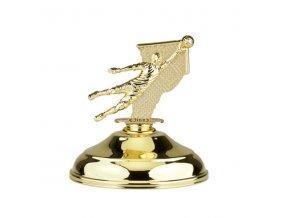 Poklice pro figurky na pohár POF0001 zlatá E výška 12 cm