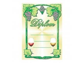 Diplom D32 A4 víno (sommelier)