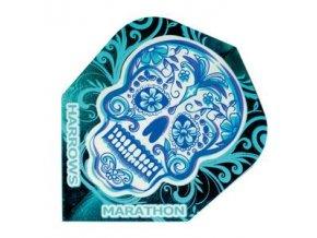 Letky MARATHON  standard blue skull