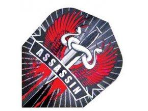 Letky HOLOGRAM standard black/red Assasin