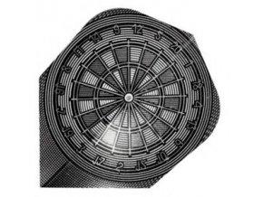Letky QUADRO standard Grey Dart Board