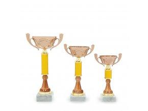 Pohár C13732 bronzový/zlatý
