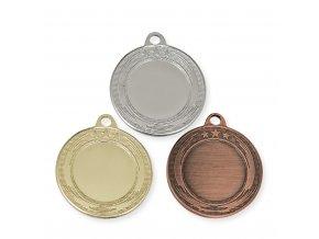 Medaile 9325 zlatá, stříbrná, bronzová