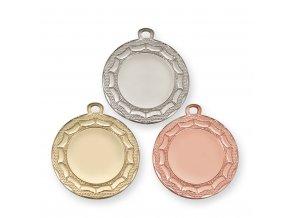 Medaile 9326 zlatá, stříbrná, bronzová