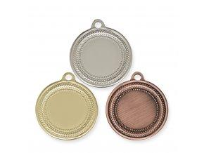 Medaile 9327 zlatá, stříbrná, bronzová