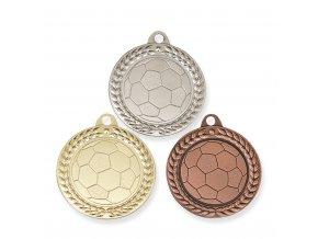 Medaile C19004 zlatá, stříbrná, bronzová Fotbal