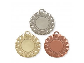Medaile 9343 zlatá, stříbrná, bronzová