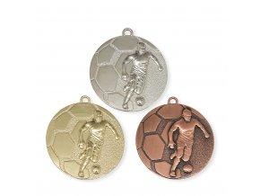 Medaile 9344 zlatá, stříbrná, bronzová Fotbal