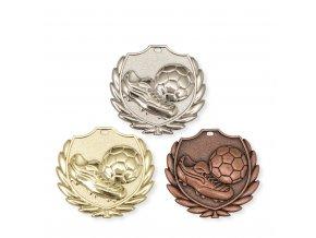 Medaile 9347 zlatá, stříbrná, bronzová Fotbal