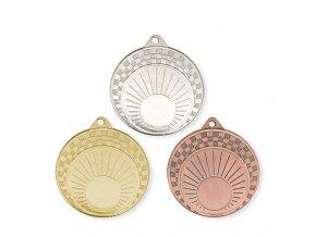 Medaile 9712 zlatá, stříbrná, bronzová