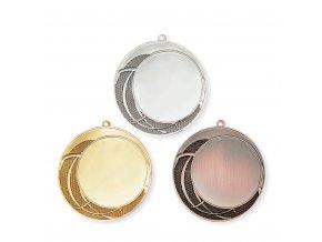 Medaile 9718 zlatá, stříbrná, bronzová