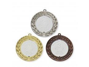 Medaile 9720 zlatá, stříbrná, bronzová