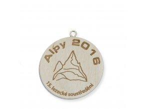 Medaile 19064 dřevěná - gravírovaná