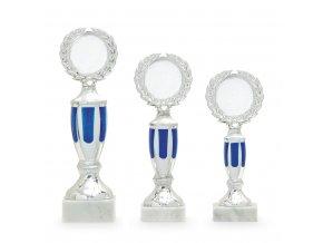 Trofej 7319 stříbrná/modrá