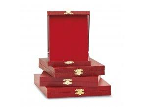 Krabička na kovové plakety C18076 červená